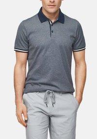 s.Oliver BLACK LABEL - MET GESTREEPTE BOORDJES - Polo shirt - dark blue melange - 6