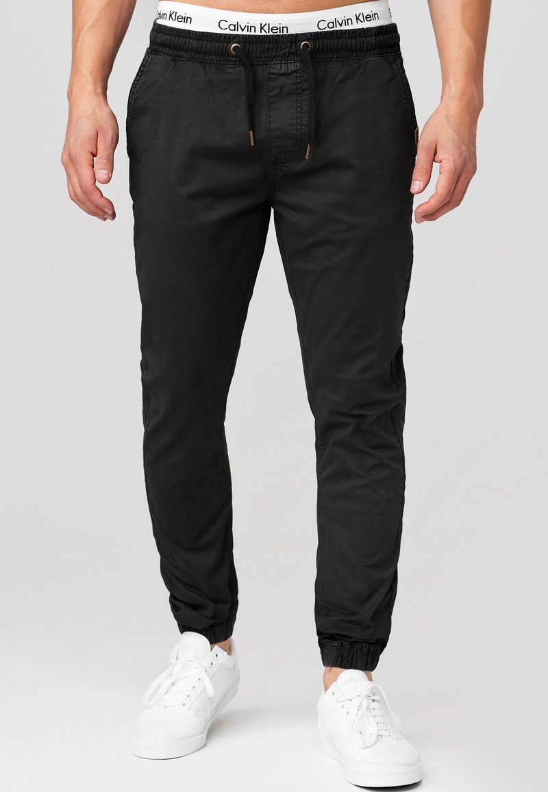 INDICODE JEANS - FIELDS - Trousers - black
