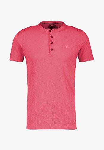 SERAFINO SLUB - Print T-shirt - rose hip red