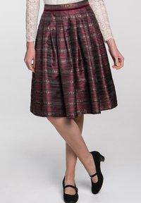 Spieth & Wensky - A-line skirt - dunkelrot - 4