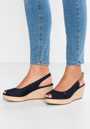 ICONIC ELBA BASIC SLING BACK - Platform sandals - blue