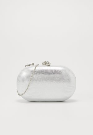 ROUNDED SNAKE BOX CLUTCH - Kuvertväska - silver