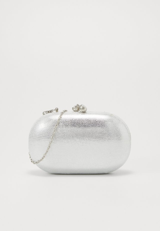 ROUNDED SNAKE BOX CLUTCH - Clutch - silver