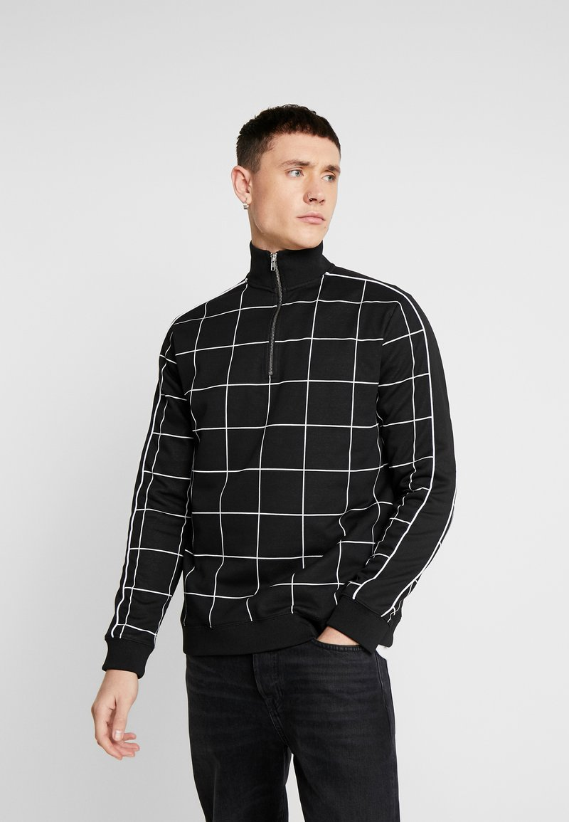 Topman - BLACKWINDOW PAIN TRACK TOP - Bluza - black