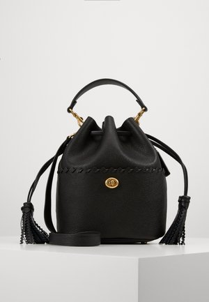 WHIPSTITCH DETAILS LORA BUCKET BAG - Håndtasker - black