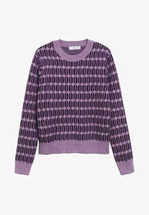 GÉOMÉTRIQUE - Trui - violet
