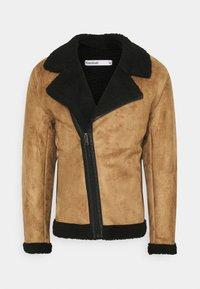 Nominal - AVIATOR  - Faux leather jacket - tan - 4