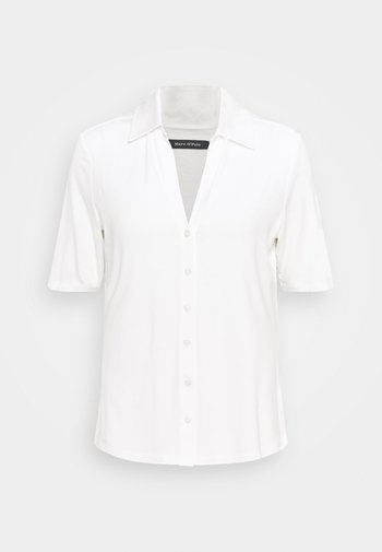 SHORT SLEEVE  - Button-down blouse - paper white