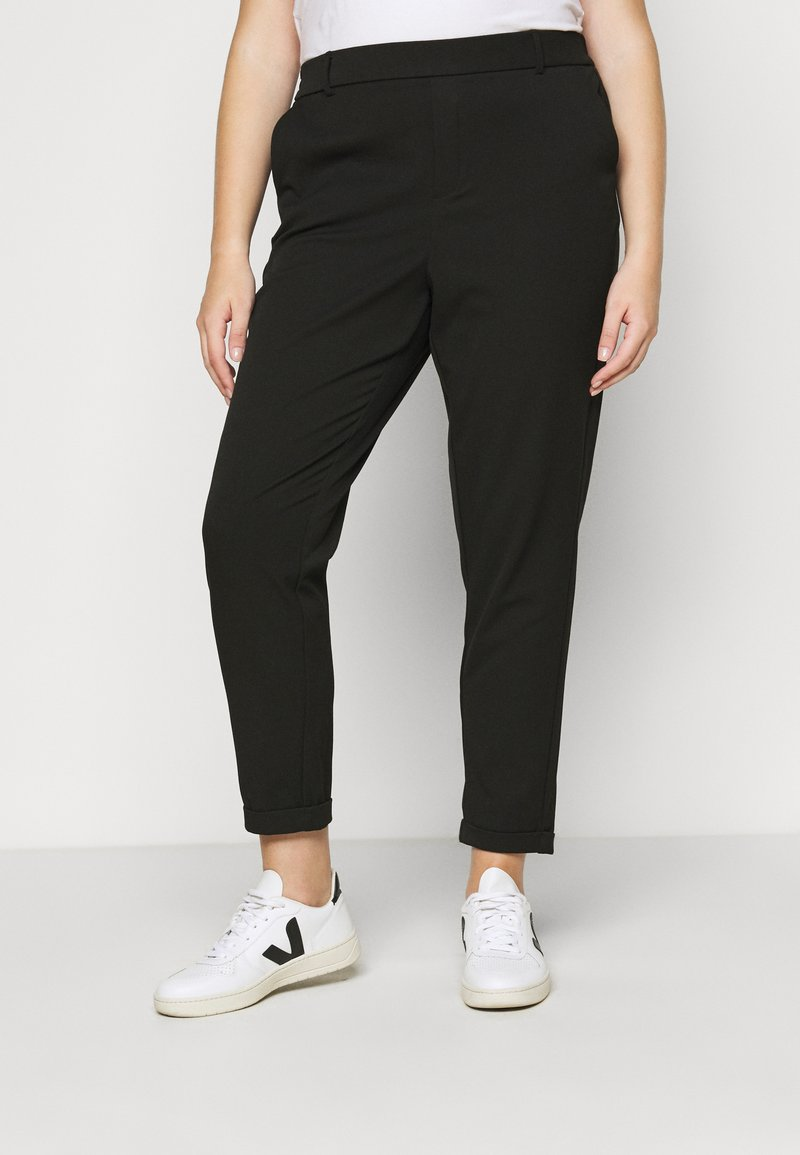 Vero Moda Curve - VMMAYA MR LOOSE SOLID PANT - Trousers - black