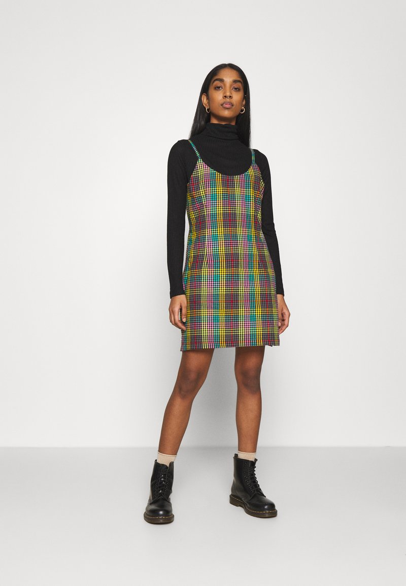 The Ragged Priest - CHECK CAMI DRESS SIDE SEAM ZIPS - Kjole - multi check