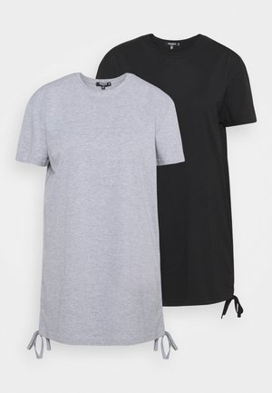 RUCHED SIDE BASIC DRESS 2 PACK - Vestido ligero - black