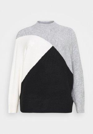 COLOURBLOCK JUMPER - Pullover - black
