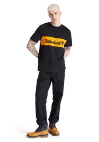 Timberland - CUT AND SEW TEE - Print T-shirt - black - 1