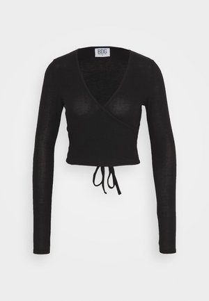 COZY BALLET WRAP - Strikkegenser - black