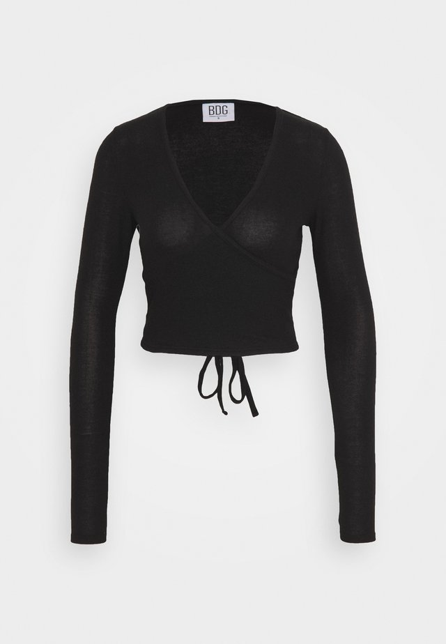 COZY BALLET WRAP - Strikpullover /Striktrøjer - black