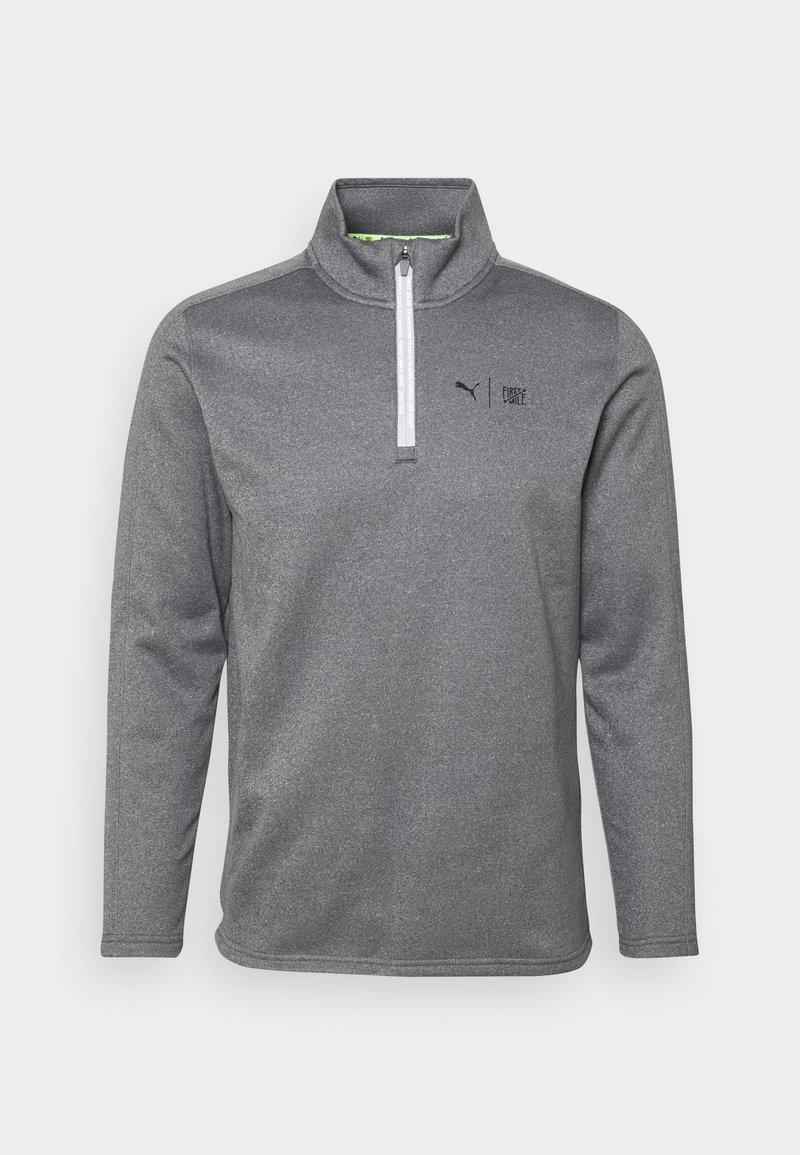 Puma Golf - FIRST MILE FLASH ZIP - Sweatshirt - quiet shade heather