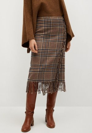 RANCHO - Wrap skirt - braun