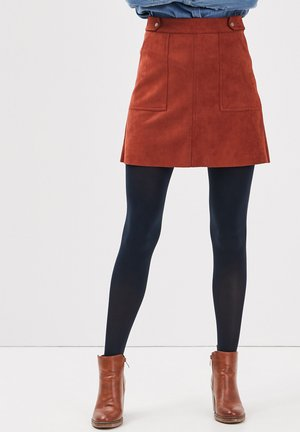A-line skirt - marron cognac