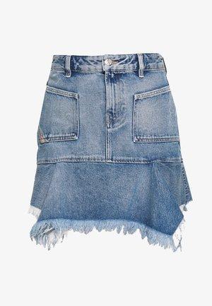 BRYX SKIRT - Mini skirt - blue denim