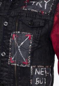 Cipo & Baxx - MIT NIETEN - Denim jacket - black - 6
