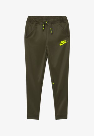 TAPERED PANT - Tracksuit bottoms - cargo khaki/volt
