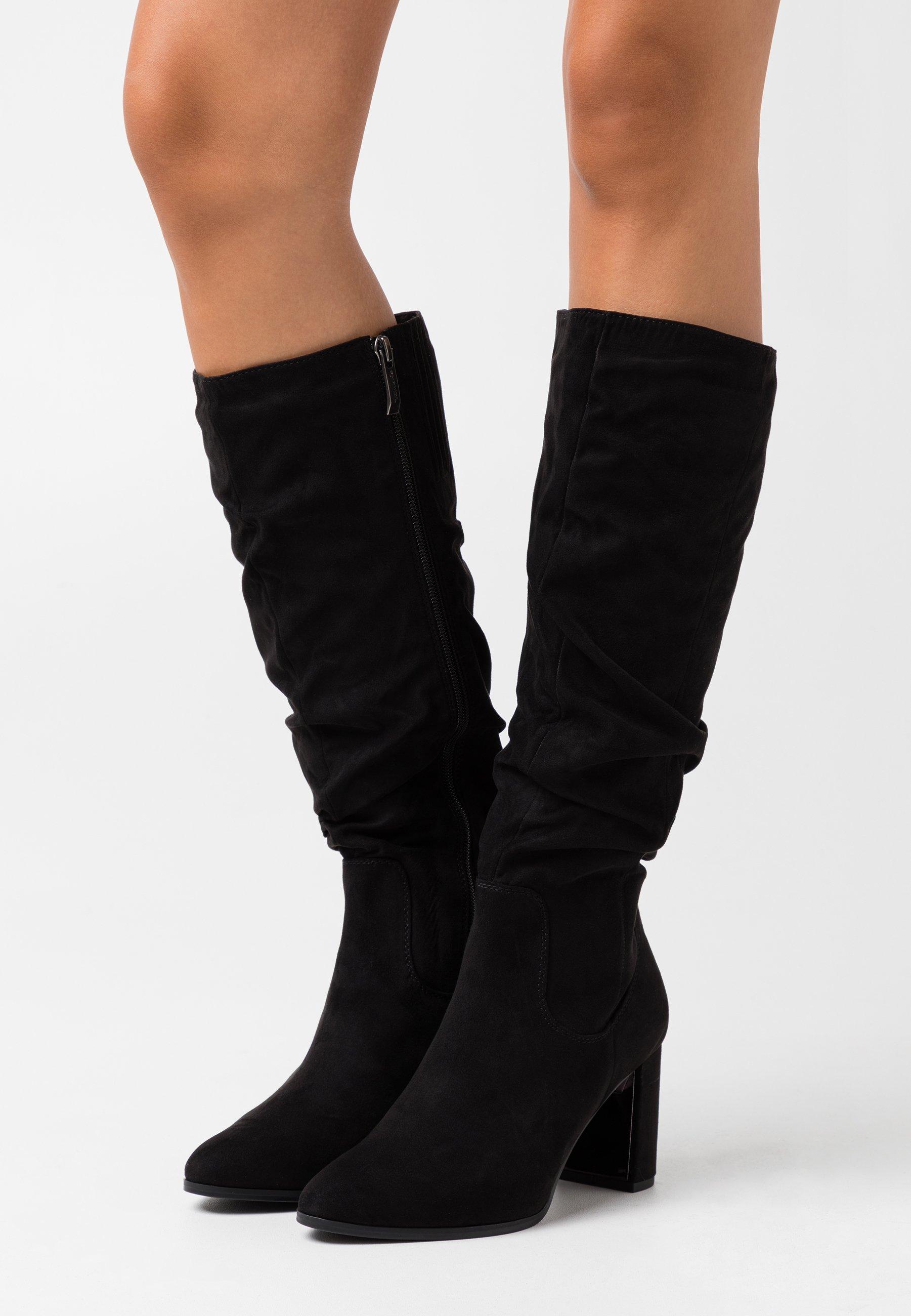 Black BASIC HIGH BOOTS | Elena Iachi | Overknee stövlar