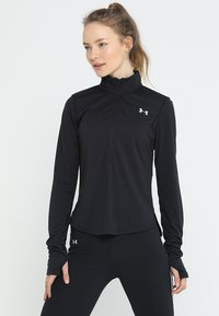 Under Armour - STREAKER HALF ZIP - Koszulka sportowa - black/black - 0