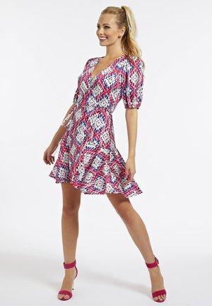 Korte jurk - mehrfarbe rose