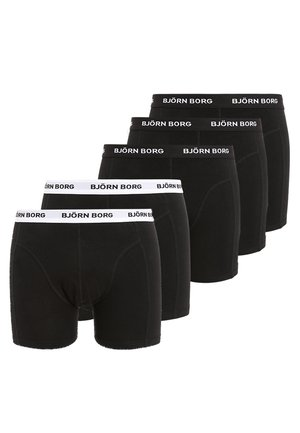 SOLIDS 5 PACK - Underbukse - black