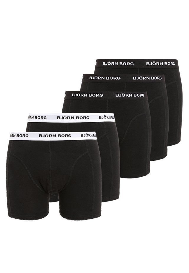 SOLIDS 5 PACK - Onderbroeken - black