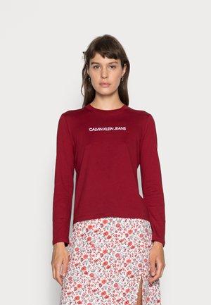 SHRUNKEN INSTITUTIONAL TEE - Long sleeved top - virginia red