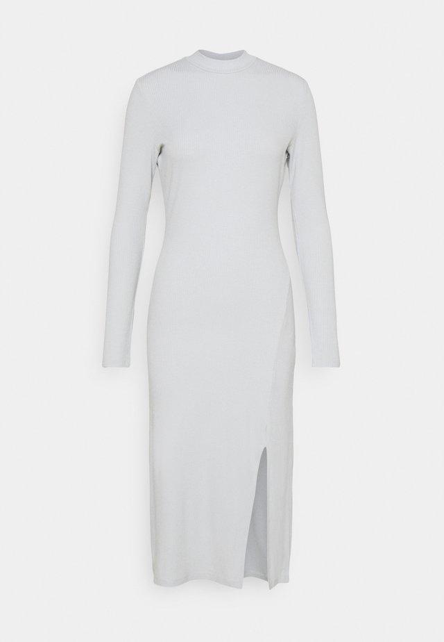 HIGH NECK MIDI DRESS - Tubino - light grey