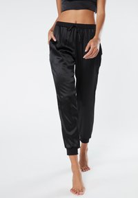 Intimissimi - LANGE HOSE AUS SEIDE UND LYOCELL - Pyjama bottoms - black - 0