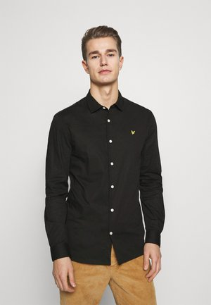 SLIM FIT POPLIN - Skjorta - jet black