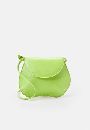PEBBLE MINI BAG - Across body bag - acid green