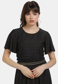 myMo - SHIRT - Print T-shirt - schwarz multicolor - 0