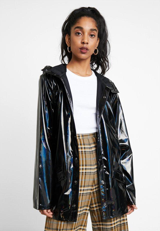 UNISEX HOLOGRAPHIC JACKET - Waterproof jacket - black