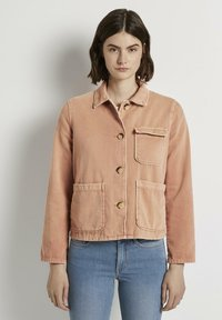 TOM TAILOR DENIM - Giacca di jeans - washed coral - 0