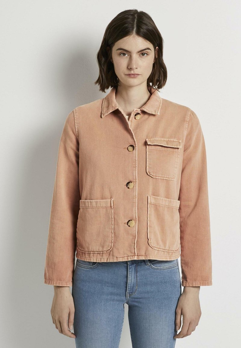 TOM TAILOR DENIM - Giacca di jeans - washed coral