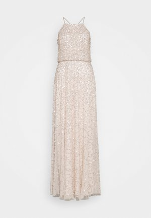 ALL OVER EMBELLISHED MAXI DRESS - Iltapuku - pearl pink