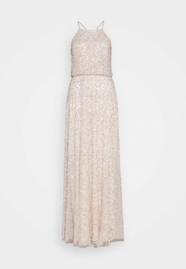 ALL OVER EMBELLISHED MAXI DRESS - Occasion wear - pearl pink