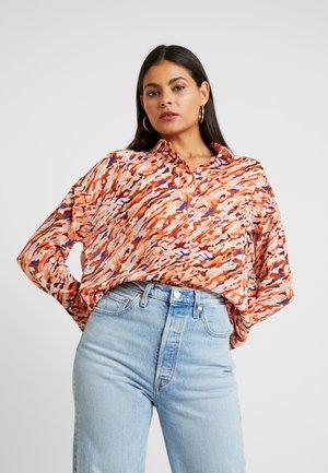 Button-down blouse - multicoloured