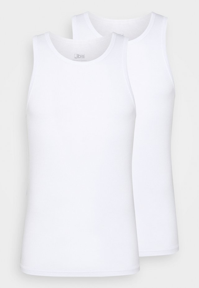 SINGLET 2 PACK - Camiseta interior - weiss