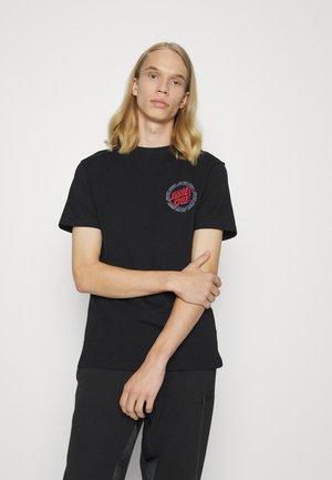 HOLLOW RING UNISEX - Print T-shirt - black