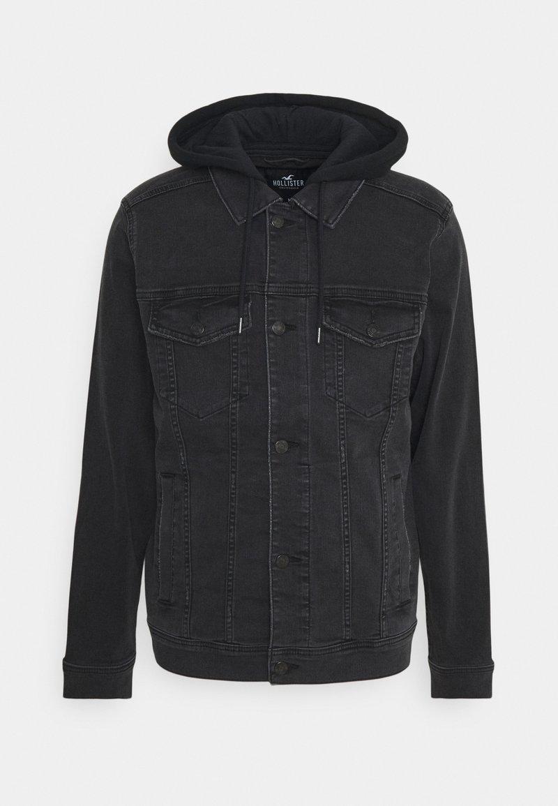 Hollister Co. - TRUCKER TWOFER - Jeansjacka - black wash