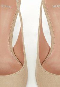 BOSS - Slingback ballet pumps - beige - 5