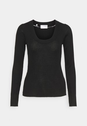 SLFCOSTA NEW DEEP U-NECK - Jumper - black