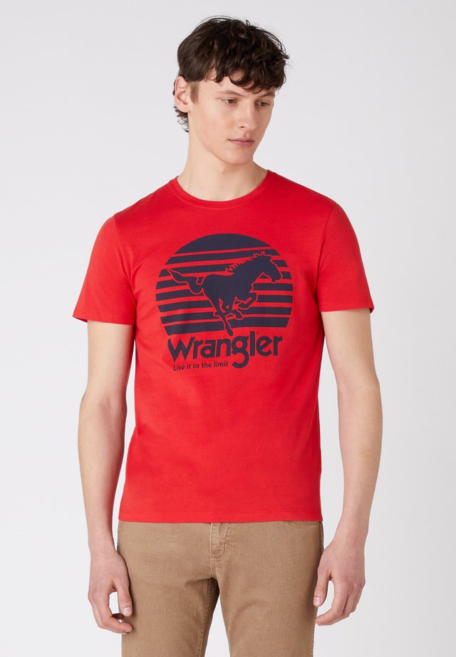 SS HORSE - T-shirt con stampa - mars red