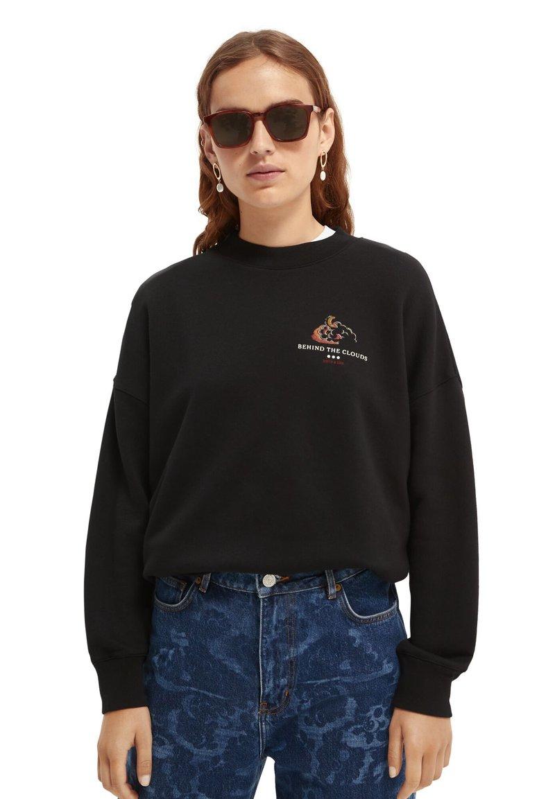 Scotch & Soda - CREWNECK WITH GRAPHIC - Sweatshirt - black