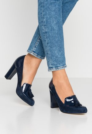LEATHER - Klassiske pumps - dark blue
